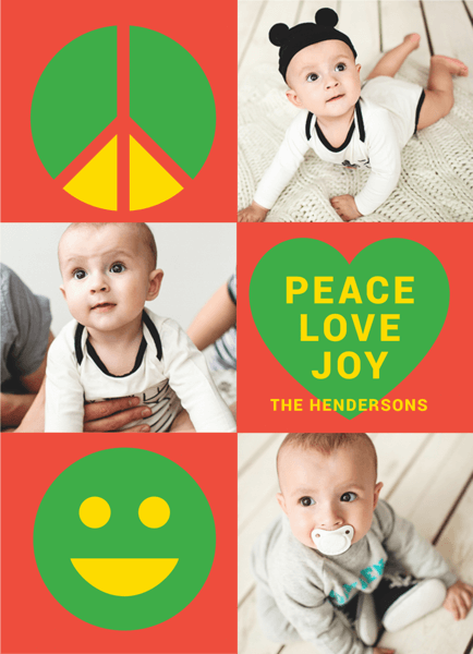 peace love joy multi photo christmas template