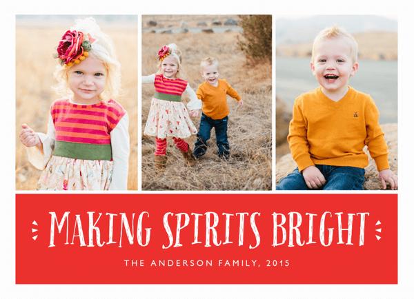 making spirits bright multi photo christmas card