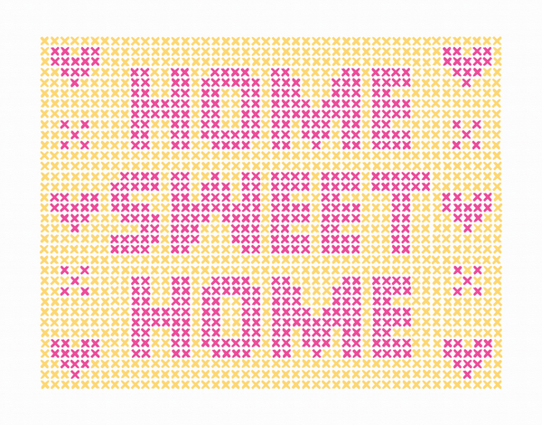 Needlepoint Home Sweet Home Card
