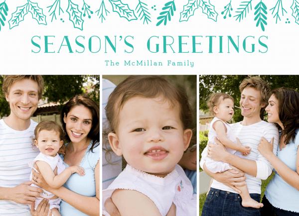 seasons greetings multi photo christmas card