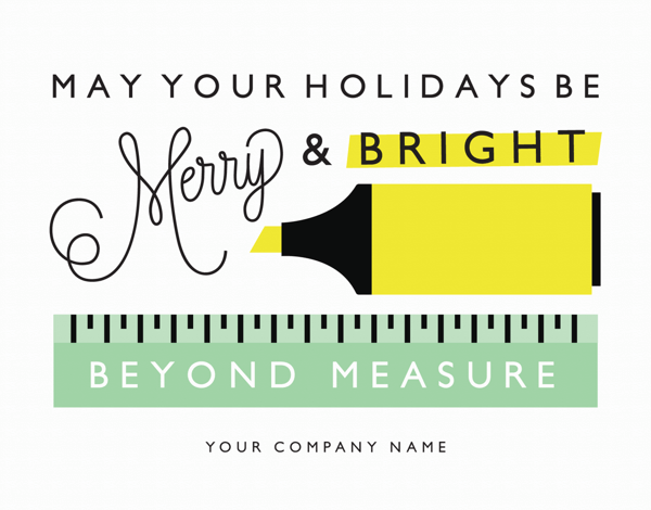 modern holiday card for businesses