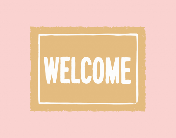Welcome Mat Moving Card