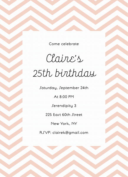 Chevron Birthday Invite