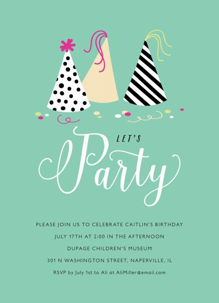 Party Hats Invite