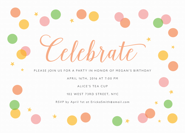 Celebrate Confetti Party
