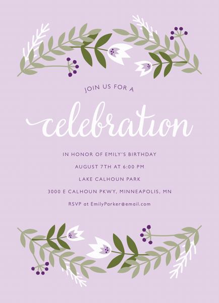 Lilac Floral Invite