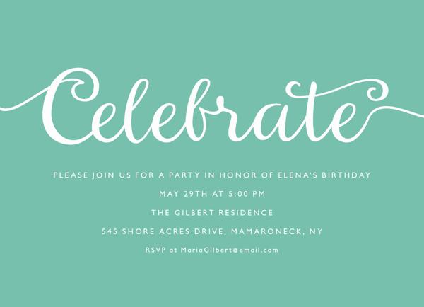 Celebrate Script Invite