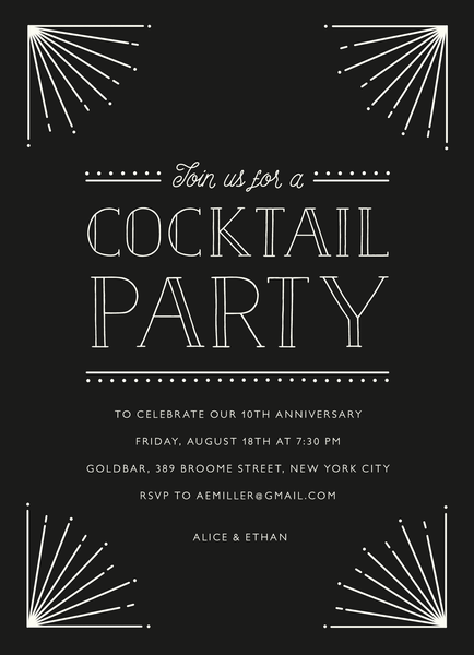 Art Deco Cocktail Party