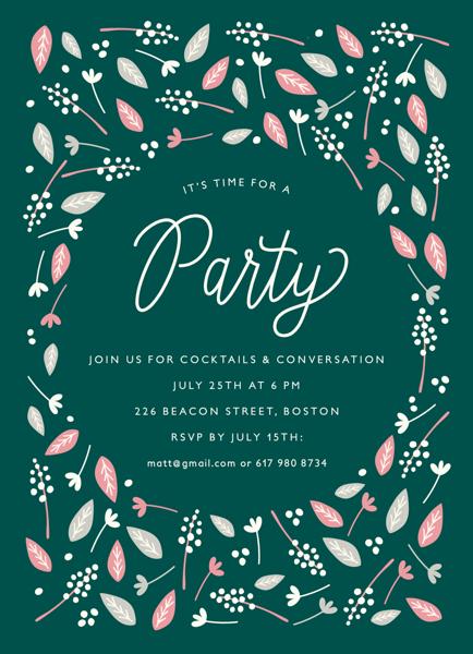 Leaf Pile Invite