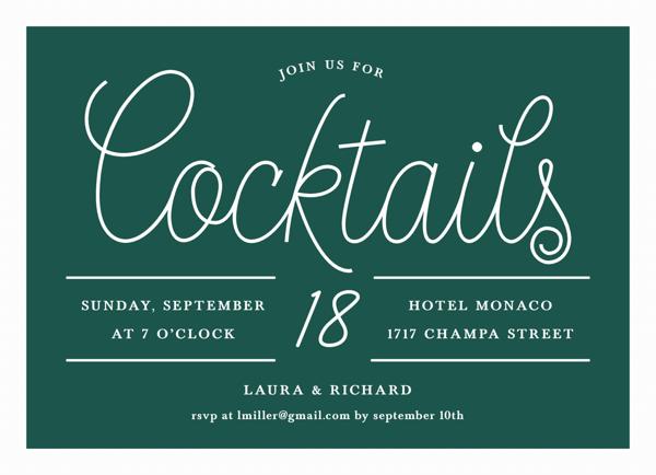 Chic Cocktail Script
