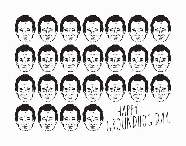 Bill Murray Groundhog Day Card