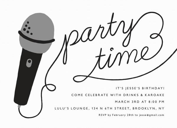 Karaoke Time Invite