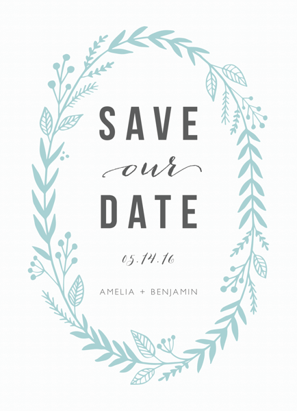 Blue Laurel Save The Date