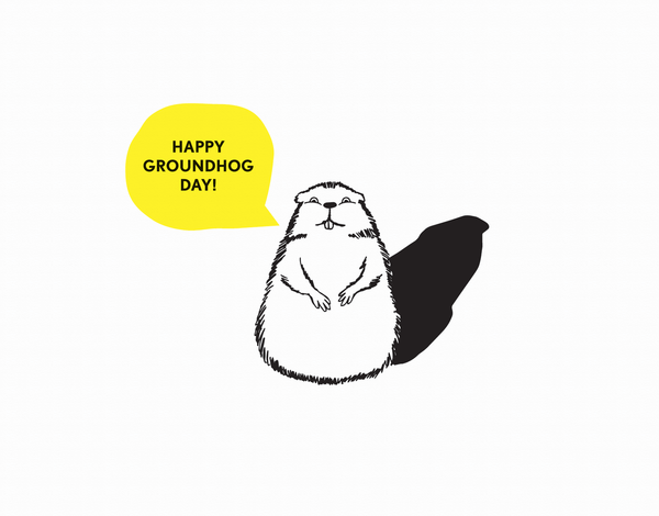 Funny Groundhog Day Card