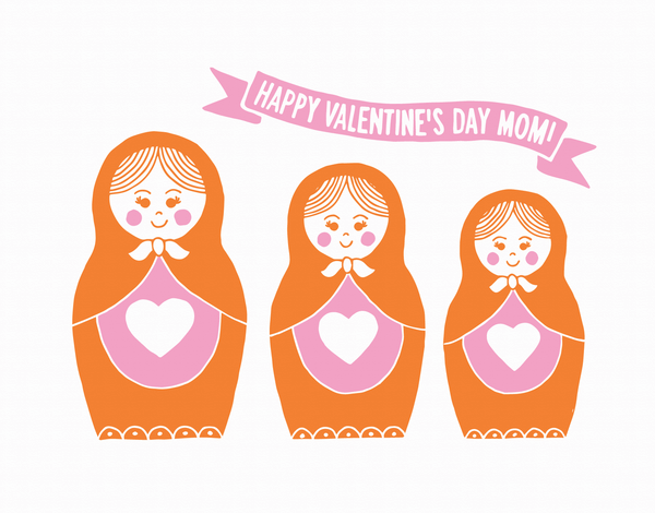 Matryoshka Doll Valentine's Card