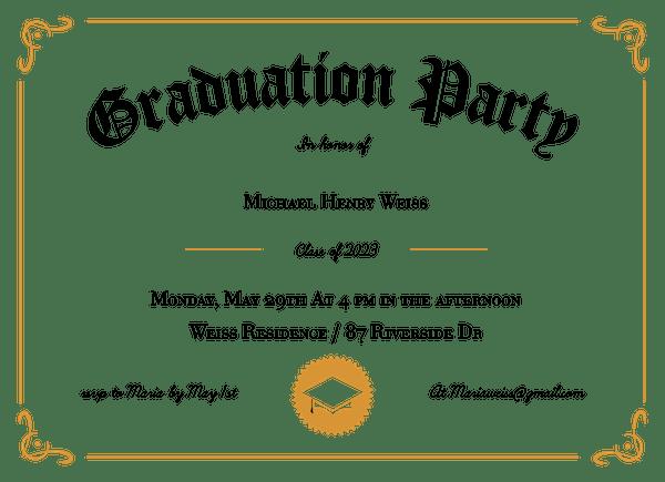 Grad Party Diploma