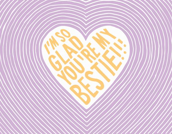 Purple Bestie Valentine Card