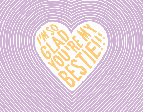 Purple Bestie Valentine Card