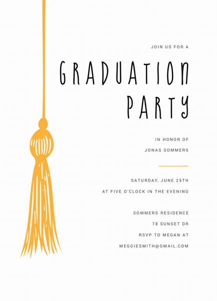 Tassel Graduation Invite