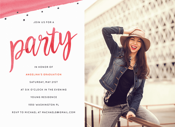 Watercolor Party Invite