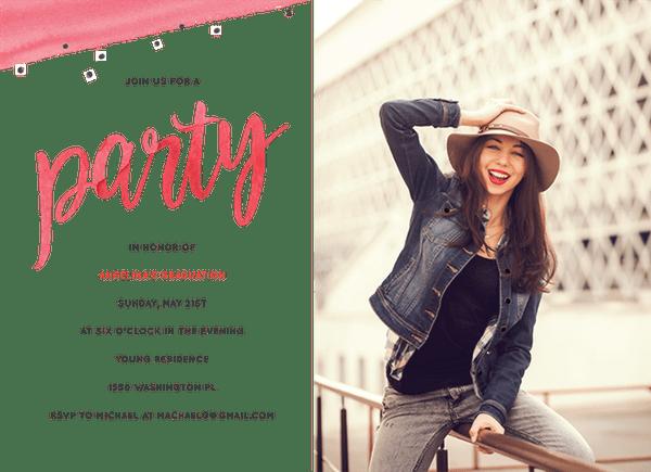 Watercolor Party Invite