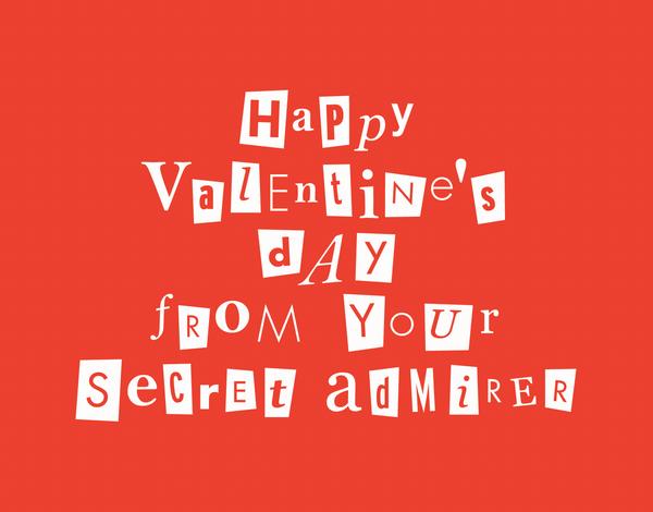 Secret Admirer Valentine's Card