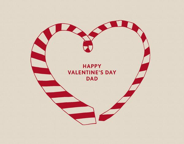 Striped Tie Valentine Card for Dad