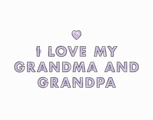 Crayon Grandparents Valentine Card