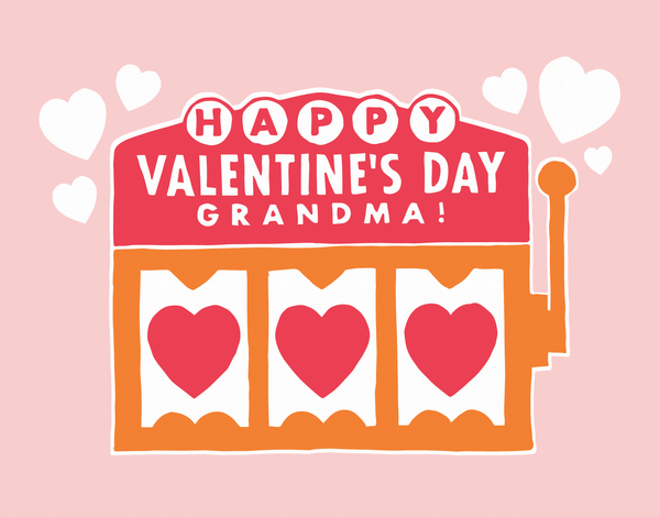 Grandma Jackpot Valentine Card