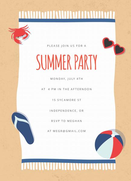 Beach Blanket Summer Party