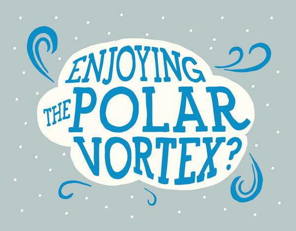 Polar Vortex Greeting Card