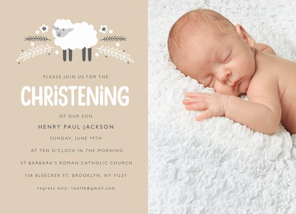 Little Lamb Christening Photo