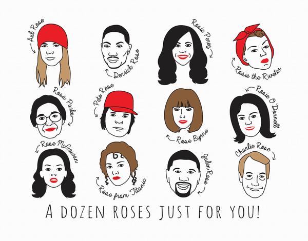 A Dozen Roses Valentine's Card