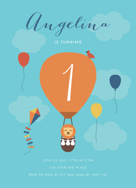 Hot Air Balloon Birthday