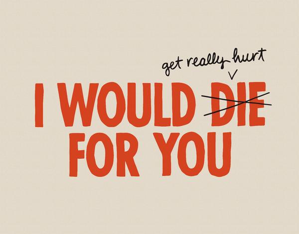 Bold Funny Valentine's Day Card