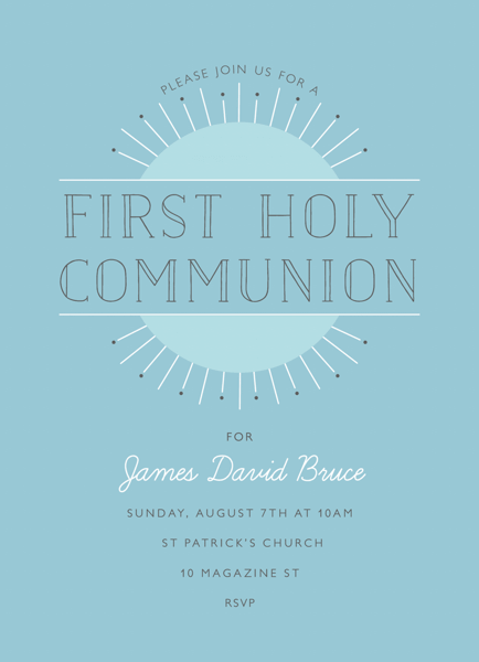 Art Deco Sunrise Communion