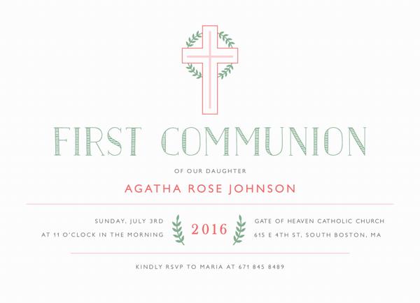 First Communion Cross