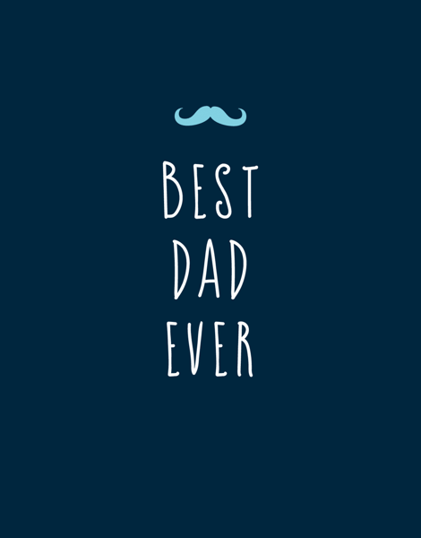 Simple Mustache Best Dad