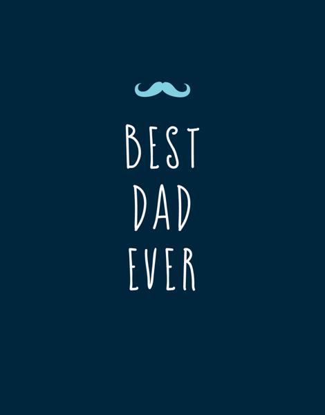 Simple Mustache Best Dad