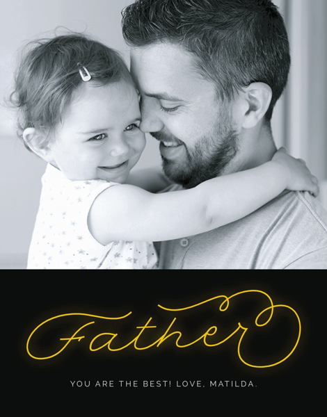 Neon Dad Father's Day