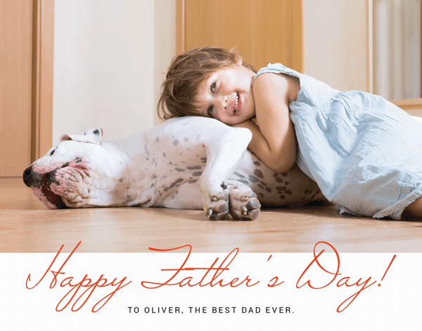 Red Script Father's Day