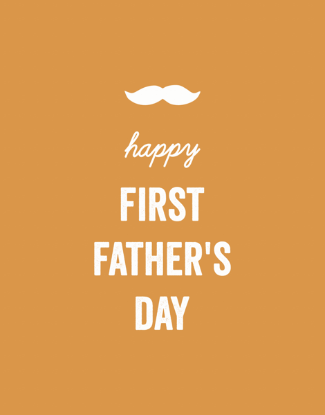 Orange First Father's Day
