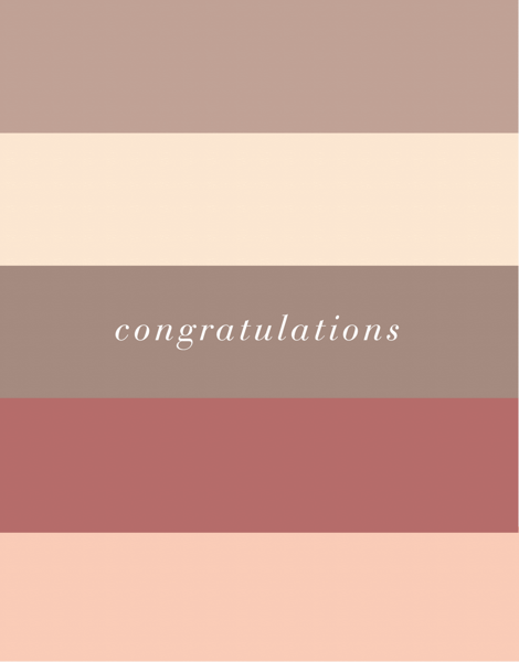 Congrats Color Block