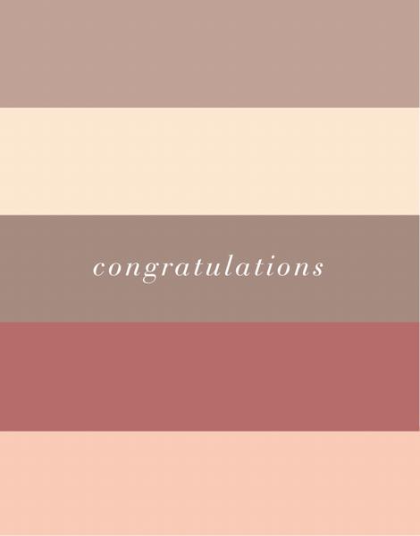 Congrats Color Block