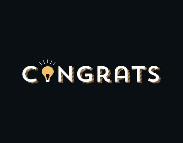 Congrats Light Bulb