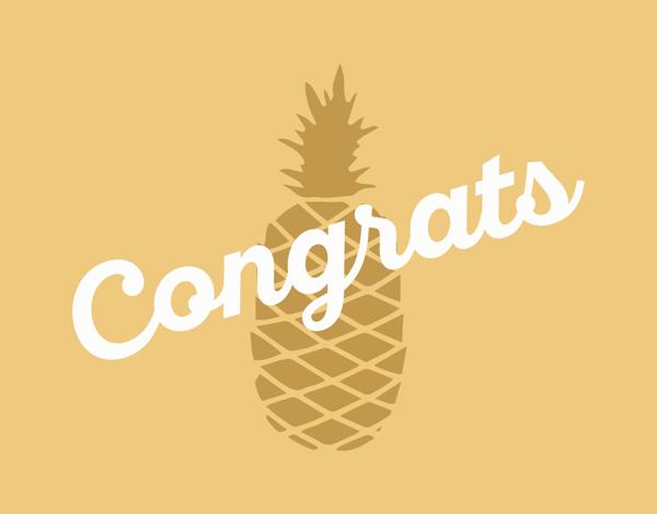 Pineapple Congrats