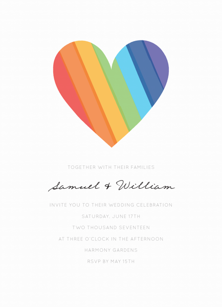 Rainbow Heart Wedding