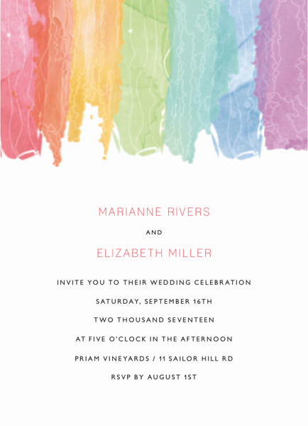 Watercolor Rainbow Wedding