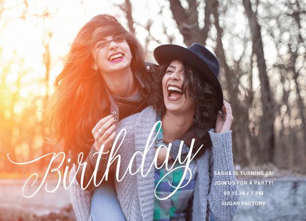 Birthday Lettering Overlay