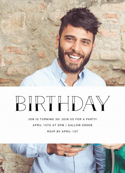 Simple Photo Birthday